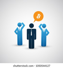 Successful Online Business, Marketing, Consulting - Bitcoin Trading Concept with Businessmen