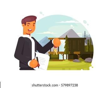 Successful realtor sells property