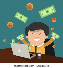 Earn Money Cartoon High Res Stock Images | Shutterstock