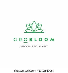 Succulent Plant Logo Design Inspiration