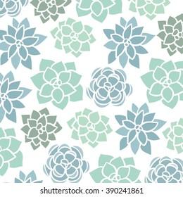 succulent vector pattern