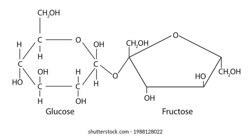 Sucrose is disaccharide, molecule composed of two monosaccharides, glucose and fructose. Sucrose is produced naturally in plants, from which table sugar is refined. It has the heavy molecular formula
