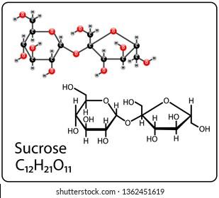 Sucrose Molecule Structure