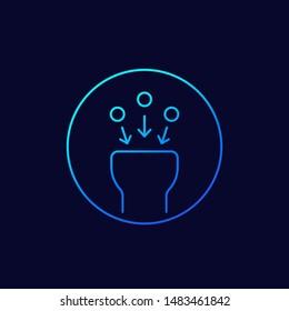suction icon, linear vector design