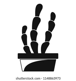 Suculent cactus pot icon. Simple illustration of suculent cactus pot vector icon for web design isolated on white background