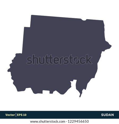 Sudan Africa Countries Map Icon Vector Stock Vector (Royalty Free ...