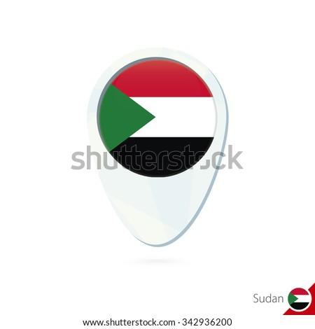 Sudan Flag Location Map Pin Icon Stock Vector (Royalty Free ...