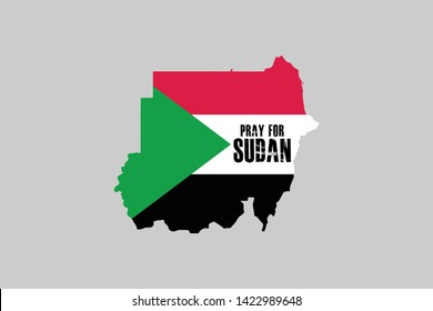 Sudan Flag Logo, Pray for Sudan, Sudan is Bleeding
