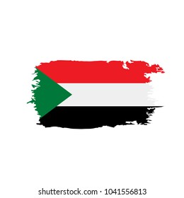 Sudan flag, vector illustration