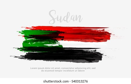 Sudan independence day poster or banner.