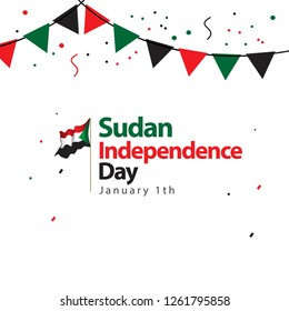 Sudan Independence Day Vector Template Design Illustration