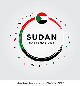 Sudan National Day, Sudan Independence Day Vector Design