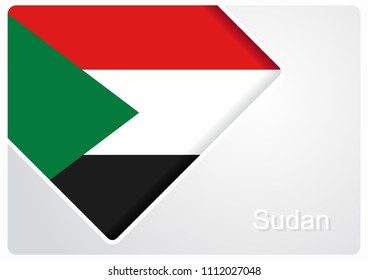 Sudanese flag design background layout. Vector illustration.