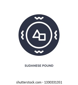 sudanese pound icon. Simple element illustration from africa concept. sudanese pound editable symbol design on white background. Can be use for web and mobile.