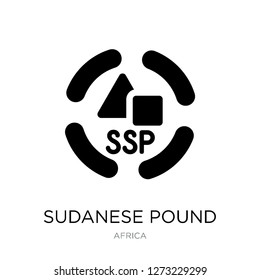 sudanese pound icon vector on white background, sudanese pound trendy filled icons from Africa collection, sudanese pound simple element illustration