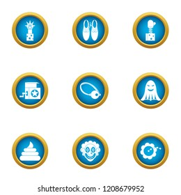 Suddenly icons set. Flat set of 9 suddenly vector icons for web isolated on white background