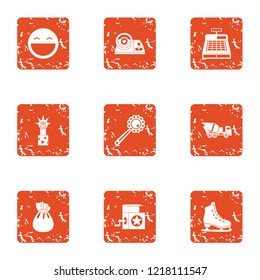 Suddenness icons set. Grunge set of 9 suddenness vector icons for web isolated on white background