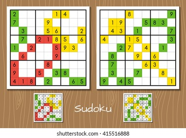 Sudoku middle level vector set