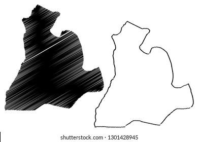 Sud-Ubangi Province (Democratic Republic of the Congo, DR Congo, DRC, Congo-Kinshasa) map vector illustration, scribble sketch Sud - Ubangi map