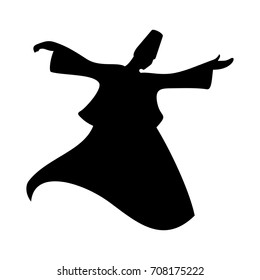 sufi dance vector logo. icon template.