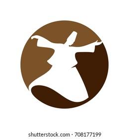 sufi dance vector logo. icon template.