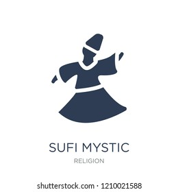 Sufi Mystic icon. Trendy flat vector Sufi Mystic icon on white background from Religion collection, vector illustration can be use for web and mobile, eps10