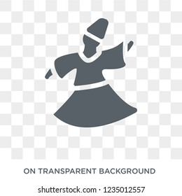 Sufi Mystic icon. Trendy flat vector Sufi Mystic icon on transparent background from Religion  collection.