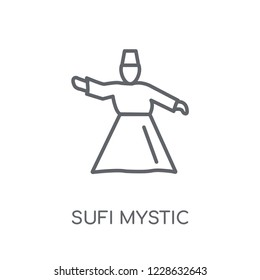 Sufi Mystic linear icon. Modern outline Sufi Mystic logo concept on white background from Religion-2 collection. Suitable for use on web apps, mobile apps and print media.