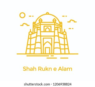 A sufi saint tomb in Pakistan, rukn e alam