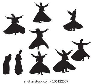 sufi silhouettes