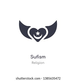 sufism icon. isolated sufism icon vector illustration from religion collection. editable sing symbol can be use for web site and mobile app