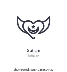 sufism outline icon. isolated line vector illustration from religion collection. editable thin stroke sufism icon on white background