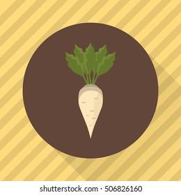 Sugar beet agriculture crop. Color flat icon