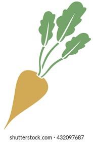 sugar beet vector icon
