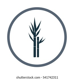 Sugar cane agriculture crop icon. Simple design for web and mobile