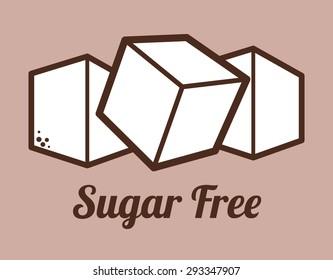 Sugar free design over purple background, vector illustration