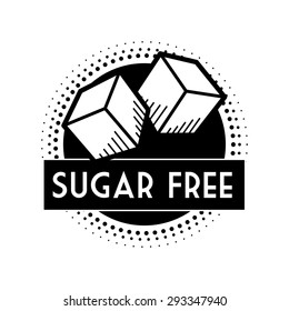 Sugar free design over white background, vector illustration