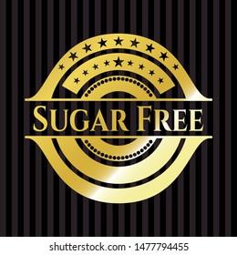 Sugar Free gold badge. Vector Illustration. Detailed.