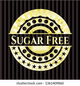 Sugar Free gold emblem