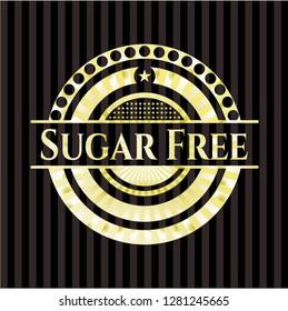 Sugar Free golden emblem or badge