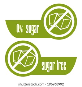 Sugar free over white background, vector illustration