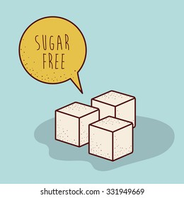 sugar free product design, vector illustration eps10 graphic