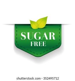 Sugar free ribbon vector green