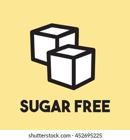 Sugar free vector icon