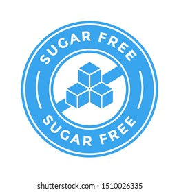 Sugar free vector logo or badge template. Suitable for food product.