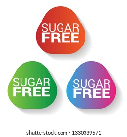sugar free vector stickers