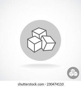 Sugar logo. Three cubes.