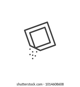 Sugar pack line icon, outline vector sign, linear style pictogram isolated on white. Symbol, logo illustration. Editable stroke
