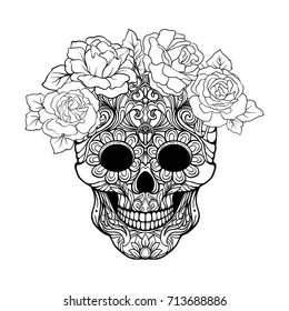 Skull Coloring Page Images Stock Photos Vectors