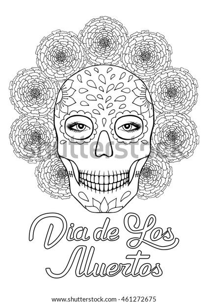 - Sugar Skull Dia De Los Muertos Stock Vector (Royalty Free) 461272675